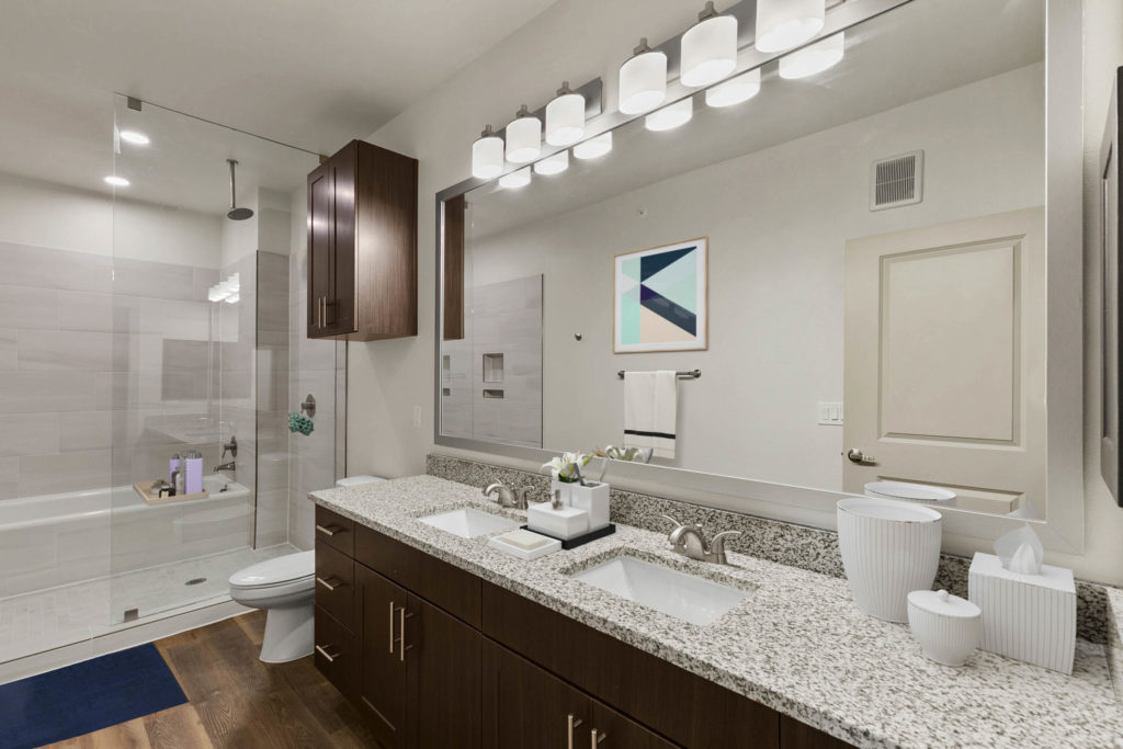 Luxury spa shower/tub combos in specific units - Upscale Living at Alexan Flower Mound